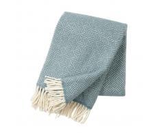 Klippan Yllefabrik Manta de lana Samba lead grey (gris)