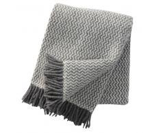 Klippan Yllefabrik Manta de lana Tango gris-blanco