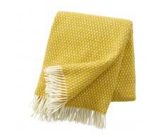 Klippan Yllefabrik Manta de lana Knut Saffran (amarillo)