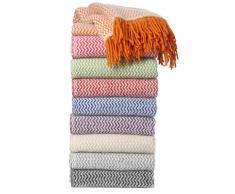 Klippan Yllefabrik Manta de lana Tango cereza-blanco