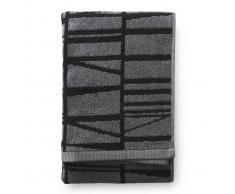Finlayson Toalla de mano Coronna 50 x 70 cm, gris-negro