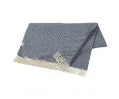 Nordic Nest Manta de lana Wicker azul oscuro