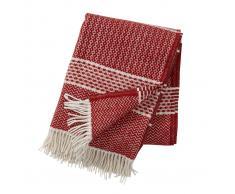 Klippan Yllefabrik Manta de lana Quilt tibetan (rojo)