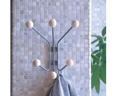 Maze Perchero de pared Bill XS gris
