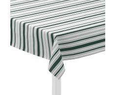 Juna Mantel de hule Urban New Stripe blanco-verde