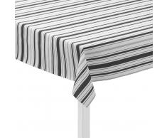 Juna Mantel de hule Urban New Stripe blanco-negro