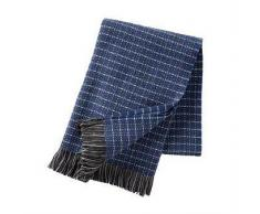 Klippan Yllefabrik Manta de lana Stitch azul