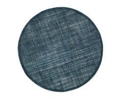 Dixie Mantel individual de lino Dixie, redondo azul oscuro