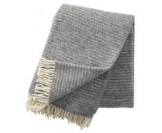 Klippan Yllefabrik Manta de lana Ralph gris claro