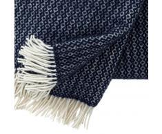 Klippan Yllefabrik Manta de lana Rumba azul marino