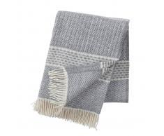 Klippan Yllefabrik Manta de lana Quilt gris claro