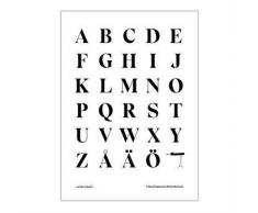 Olle Eksell Póster Tipografía Eksell mayúsculas