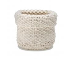 Etol Design Cesta de almacenaje Rope blanco natural