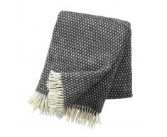 Klippan Yllefabrik Manta de lana Knut gris oscuro