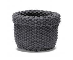 ETOL Design Cesta de almacenaje Rope gris grafito