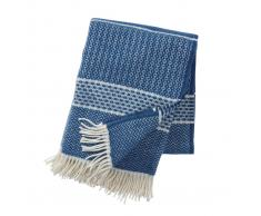 Klippan Yllefabrik Manta de lana Quilt indigo (azul)