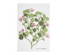 Almedahls Paño de cocina Pelargonia rosa