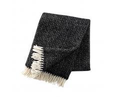 Klippan Yllefabrik Manta de lana Stella negro