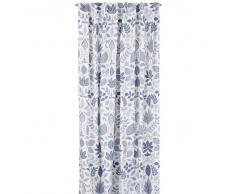 Boel & Jan Set de cortinas Lövslinga blanco-azul