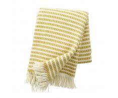Klippan Yllefabrik Manta de lana Olle Saffran (amarillo)