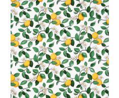 Arvidssons Textil Mantel de hule Citronlycka blanco