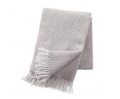 Klippan Yllefabrik Manta de lana Pulse Sand (begie)