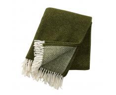 Klippan Yllefabrik Manta de lana Vega verde