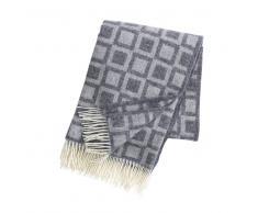 Klippan Yllefabrik Manta de lana Frame gris