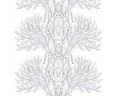 Vallila Interior Cortina Varvikko gris-blanco-plata