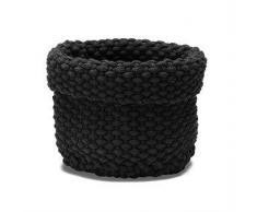 ETOL Design Cesta de almacenaje Rope negro