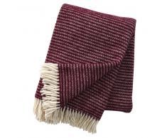 Klippan Yllefabrik Manta de lana Ralph rojo vino