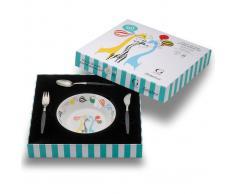 Gense Cubertería y plato infantil Focus de Luxe Junior 4 piezas