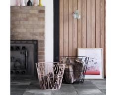 Ferm Living Cesto metal Wire, rosa mediano 50 x 40 cm