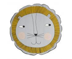 OYOY Cojín infantil OYOY Lion, gris