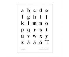 Olle Eksell Póster Tipografía Eksell minúsculas