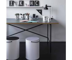 Design Letters Taburete con almacenaje Design Letters gris
