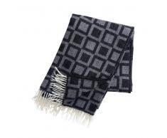 Klippan Yllefabrik Manta de lana Frame negro