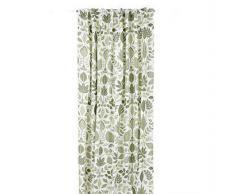 Boel & Jan Set de cortinas Lövslinga blanco-verde
