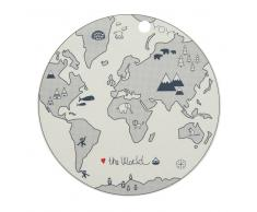 OYOY Mantel individual The world beige-gris