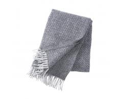 Klippan Yllefabrik Manta de lana Fogg gris claro
