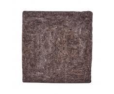 House Doctor Cojín para silla Felt Square marrón claro