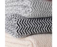Klippan Yllefabrik Manta de lana Tango blanco-negro