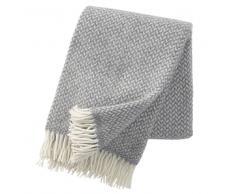 Klippan Yllefabrik Manta de lana Polka gris