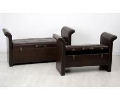 Set 2 pies de cama baúl Vintage George
