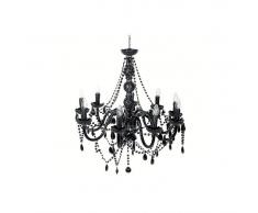 Lámpara de techo suspensión Gioiello cristal negra