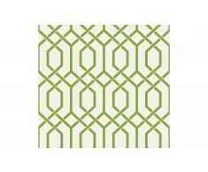 Rollo de papel pintado figura geométrica verde