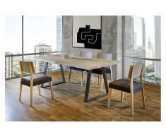Mesa de comedor 160 madera maciza roble Juli