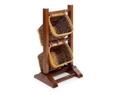 Mueble auxiliar rattan combinable Colonial 2 cestas