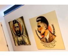 Lienzo impreso barberos hipster