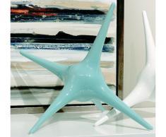 Escultura estrella verde agua